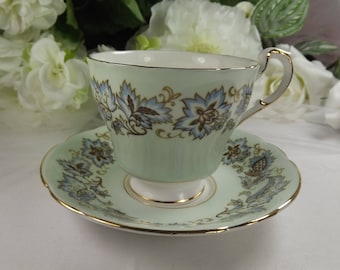 Paragon Teacup and Saucer , Duck Egg Blue/ Green
