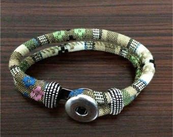Cloth Snap Bracelet
