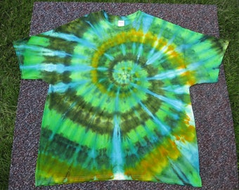 tie dye shirt, 2XL, Earth shirt, tie dye, green