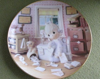 Precious Moments Decorative Plate Praise The Lord Anyhow The Hamilton Collection 1994 #1264D