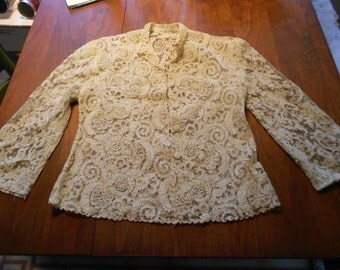 Beautiful Handmade Lace Jacket