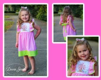 Girls Easter Dress, Toddler Easter Dress, Easter Bunny Dress, Bunny Dress, Bunny Easter Dress, Girls Easter Dress, Flutter Dress,