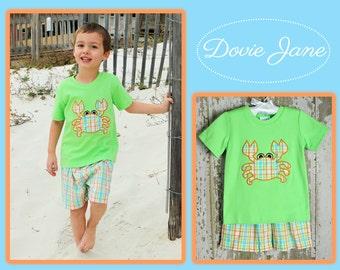 Boy Crab Set, Boy Beach Outfit, Crab Boy, Boy Shorts Set, Boy Clothing, Toddler Boy Clothing, Toddler Boy Outfit, Boy Crab Outfit, Matching
