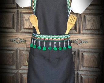 Beautiful Hong Green Apron