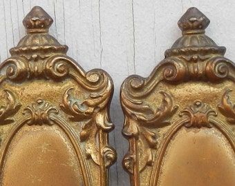 Fabulous Tell City Chair Co. Ornate Brass Candle Sconces!
