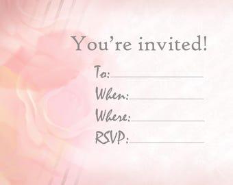 printable invitation! Fill-in-the-blank, digital file
