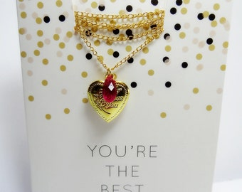 LOVE - Medallion chain, not only for Valentine's day