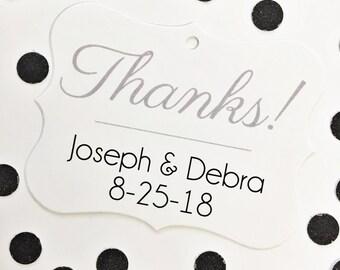 Thank You Tags, Wedding Thank You Tags, Wedding Favor Tags  (EC-041)