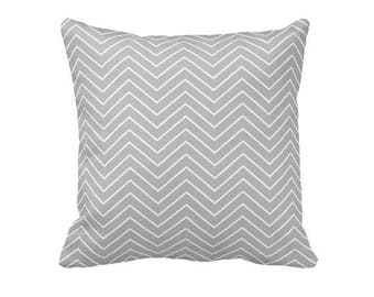 Gray Pillow Cover Gray Throw Pillow Cover Decorative Pillows for Couch Gray Chevron Pillows Gray Euro Pillows Oversized Pillows Grey Pillow