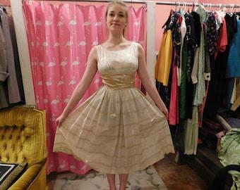 1950's  Brassy Gold dress