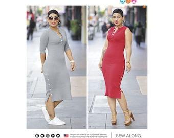 Simplicity Pattern 8334 Misses' Knit Dress by Mimi G