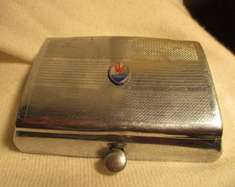 Vintage Maserati chrome car ashtray
