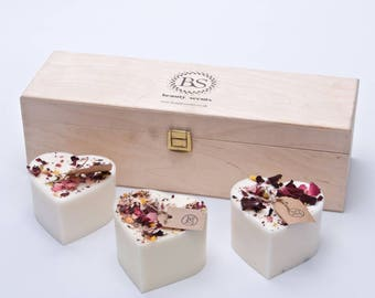 Beauty Scents Gift set ( 3 handmade scented soy wax candles)