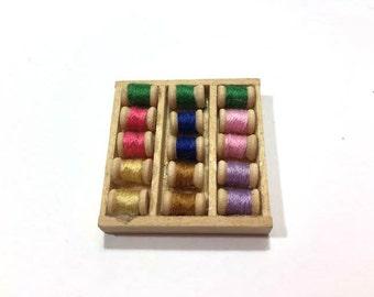 Miniature Sewing Threads Dollhouse Thread Supplies 1:12 Scale Dollhouses - 339