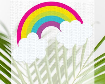 SVG, DXF, Pdf, Studio3 Cut file, CF161 Rainbow, cut file, scrapbook file, Rainbow cut file