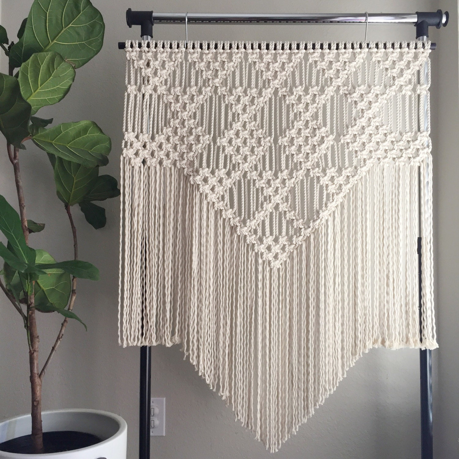 Macrame Patterns/Macrame Pattern/Large Macrame Wall Hanging