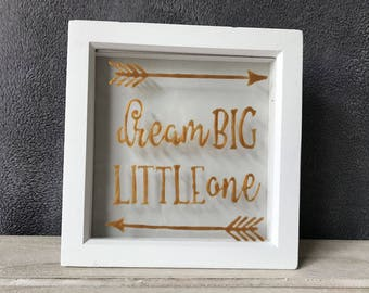 Dream Big Little Ones Quote Memory Frame