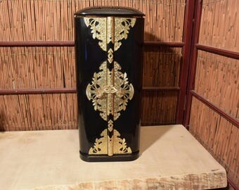 Vintage 19 Inches Tall Japanese Buddhist Zushi  Butsudan / Family Altar Cabinet