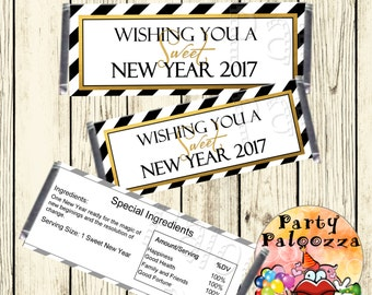 Printable New Years Candy Bar wrapper