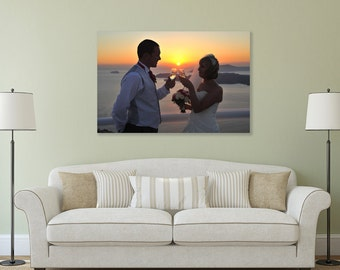 Canvas Print Custom Made Canvas Printing, Your Photo On Canvas, Premium Canvas on a 38mm deep frame Ideal wedding Birthday Christmas Gifts