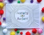 Anxious and Awesome Zine | Anxiety Zine | Handmade Zine | Self-Care | Mental Health | Made in Australia