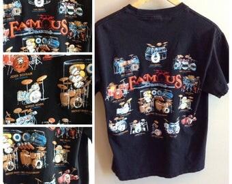 Vintage Famous Drums shirt - MEDIUM