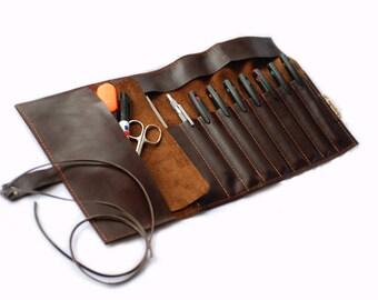 """Leather pin cushion case """"BUFFALO G2"""""""