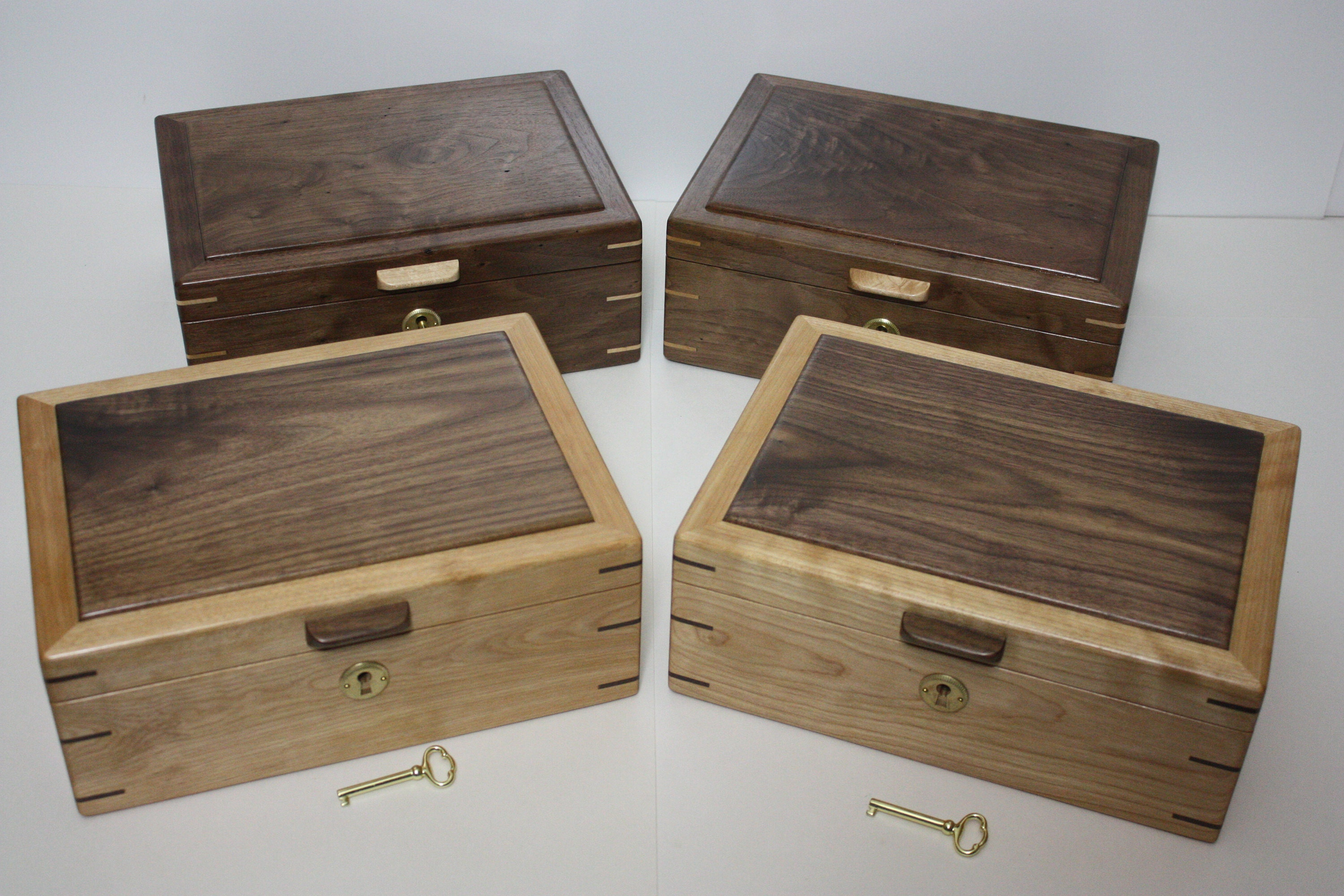 walnut box for sale red birch box for sale wood box for sale locking wood box handmade wood box large wood box wood box with tray menu0027s valet box