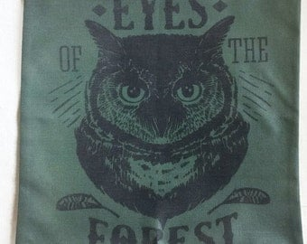Owl Forest - Pillow Cover
