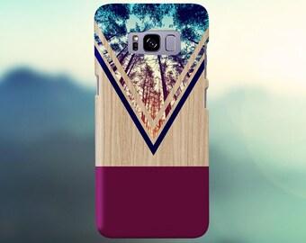 Violet Forest Navy Chevron Wood Nature Case, iPhone 7, iPhone 7 Plus, Tough iPhone Case, Galaxy s8, Samsung Galaxy s8 Plus, CASE ESCAPE