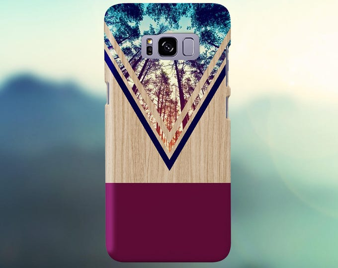 Featured listing image: Violet Forest Navy Chevron Wood Nature Case, iPhone 7, iPhone 7 Plus, Tough iPhone Case, Galaxy s8, Samsung Galaxy s8 Plus, CASE ESCAPE