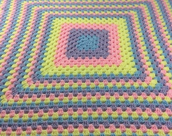 Brightly Multicolored Baby Blanket