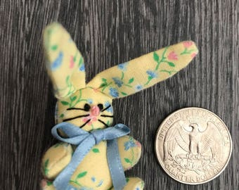 Miniature stuffed bunny