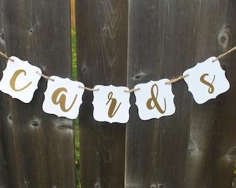 WEDDING - CARDS Banner - Wedding Banners - Wedding Signs - Wedding Decorations
