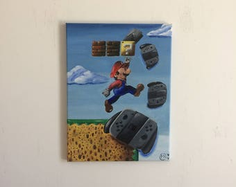"""New Nintendo Switch is Out (12"""" x 16"""") (Stretched Canvas)"""