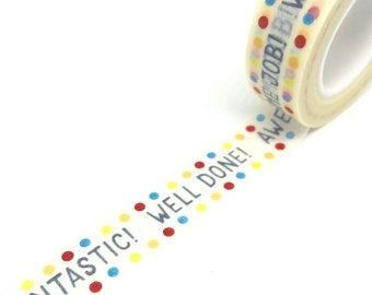 Well Done Awesome Fantastic Washi Tape 15mm x 10m