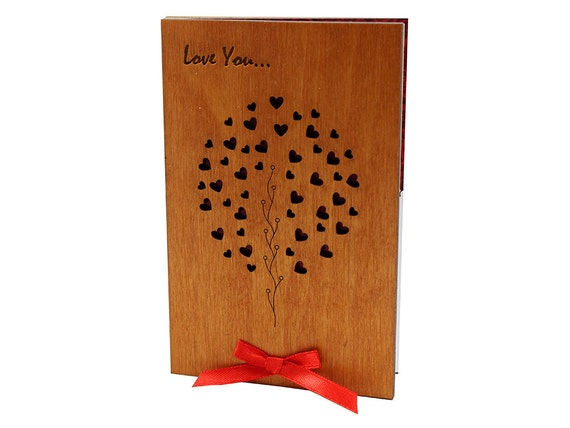 5th Wedding Anniversary Traditional Gifts: 5 Year Anniversary Wood Anniversary Card 5th By CardsWooden