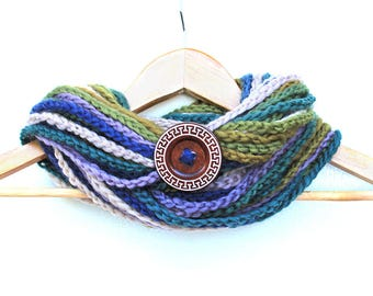 Rain Forest Chain Infinity Scarf