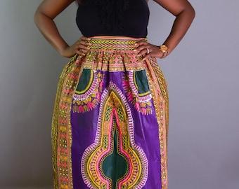 African clothing, African skirt, african skirts, ankara skirt, ankara, african maxi skirt, african print skirt, dashiki, ms alaba, purple