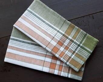 Vintage cotton handkerchiefs for men set of two