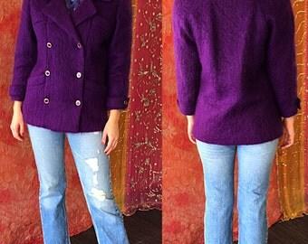 Mohair Jacket French Mohair Jacket 80s Carlisle Couture Blazer
