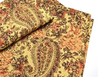 Napkins Paisley Pattern on Beige Cotton Set of 6