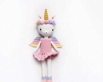 Unicorn Princess Emma - amigurumi doll - English pattern - kikalite