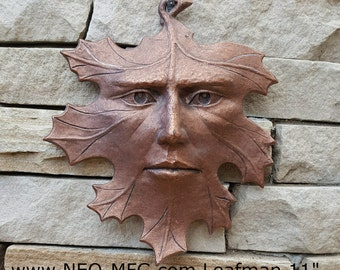 """Nature Leafman Mythical Wall Decor Greenman Sculpture wall relief www.Neo-Mfg.com 11"""""""