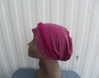 Hair Loss Turban,Chemo Hat,Cancer Turban,Pink Turban, Turban, Slouch Hat, Fashion Hat, Stretchy Slouch Hat, Multi Colored Hat,Hair Loss Cap