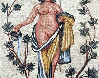 Roman Goddess Mosaic Art