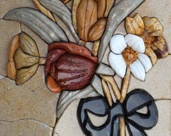 Mosaic Stone Art - 3D Flower
