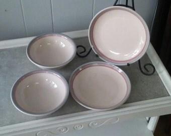 pfaltzgraff salad plates pfaltzgraff dessert bowls aura pattern small plate set stoneware