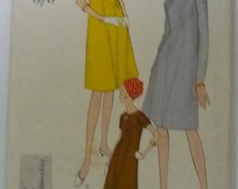 "Vintage Sewing Pattern. Original Vogue 6419. Vogue dress bust 36"" - 91cm"