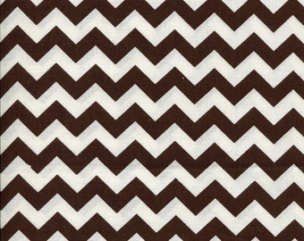 Chevron Zig Zag Chocolate Brown Fabric